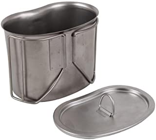 Rothco ハンゴウ G.I. Type Stainless Steel Canteen Cup with Lid [並行輸入品]