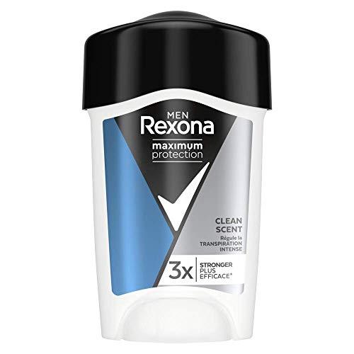 Rexona Men Stick Anti-Transpirant Homme Maximum Protection Clean Scent Dry, Efficacité 96h, 3x Plus Efficace, Parfum Frais, 45ml