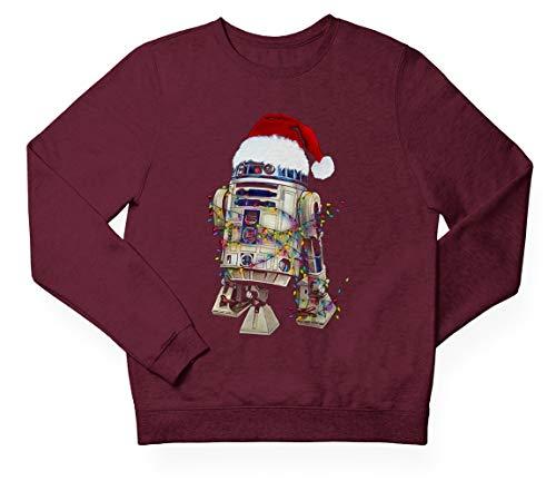 LH Designs R2D2 - Sudadera con capucha de Navidad, diseño de Starwars