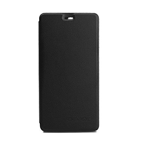 95Street Handyhülle für Leagoo T5 Schutzhülle Book Case für Leagoo T5, Hülle Klapphülle Tasche im Retro Design mit Praktischer Aufstellfunktion - Etui Schwarz