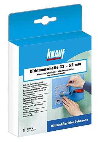 Knauf Dichtmanschette zum dauerhaften Abdichten von Rohrdurchführungen, für 32 - 55 mm Rohr-Durchmesser – Rohr-Abdichtung, Dicht-Vlies wasser- und witterungs-beständig