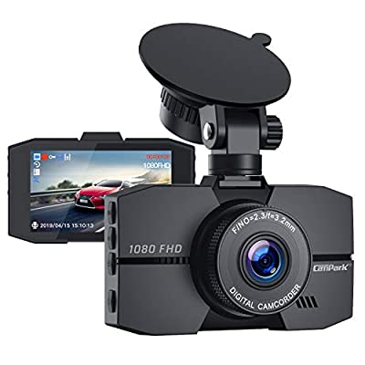 Campark Dash Cam 1080P Full HD Dash Camera for ...