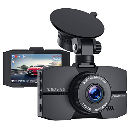 "Campark Dash Cam 1080P Full HD Dash Camera for Cars 3"" IPS Screen DVR Dashboard Driving Recorder with 170° Wide Angle Night Vision Loop Recording G-Sensor and Parking Monitor"