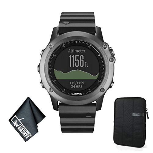 Garmin Fenix 3 Multi-Sport Training GPS Watch (Sapphire and Stainless Steel Bracelet) Basic Accessory Bundle