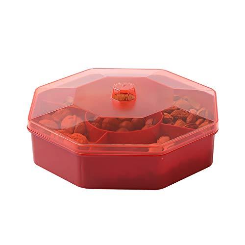 BANGSUN Caja de almacenamiento de caramelos de plástico de 1 unid de una sola capa Snack Candy Box con caja de almacenamiento de plástico de frutas para el hogar