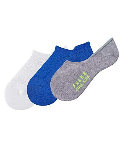 FALKE Kinder Füßlinge 3er Set Cool Kick - Funktionsfaser, 3 Paar, Weiß (Sortiment 10), Größe: 31-34