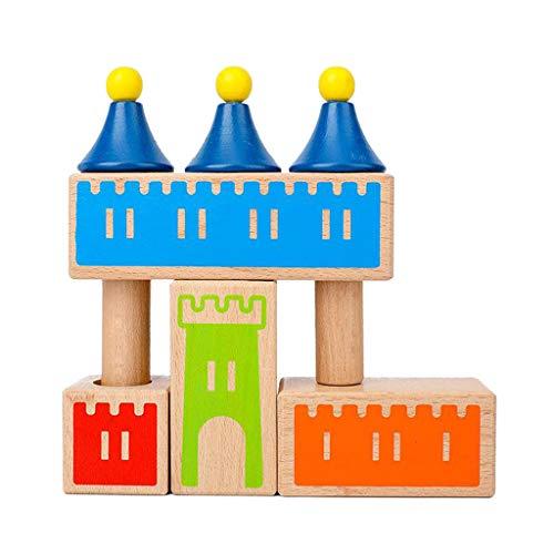 Sharplace Juguete Educativo del Castillo del Rompecabezas de Madera de Montessori Creativo para Las Muchachas de Los Muchachos