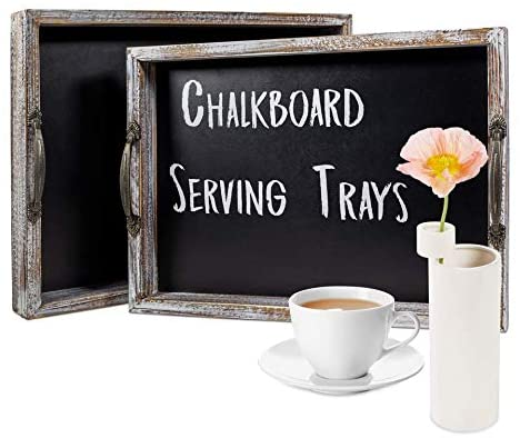 Ranking TOP6 Serving Trays – Rustic with Bargain Nesting Chalkboar