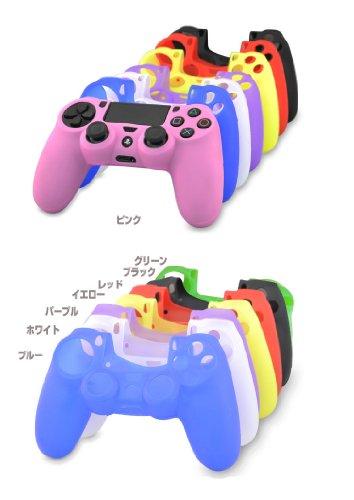 ps4 コントローラー シリコンカバー/PS4ゲームパッド 保護シリコン ケース/カバー プレイステーション4 ジャケット PlayStation 4専用 保護ケースPS4-99-F40425 (グリーン)