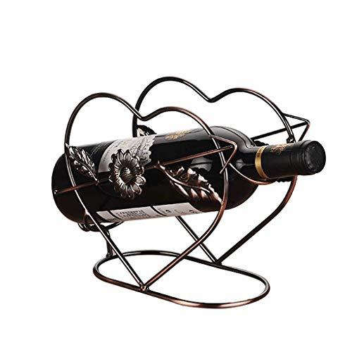 YNLRY Wine Rack Metal En Forma De Corazón Red Wine Rack Decor (Color : 1)