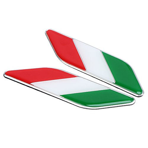 Possbay ein Paar Italien Flagge Aufkleber Auto Motorrad Emblem 11cm * 2.7cm
