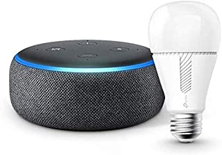 Echo Dot 第3世代 - スマートスピーカー with Alexa、チャコール + TP-Link Kasa スマート LED ランプ 調光タイプ E26 KL110