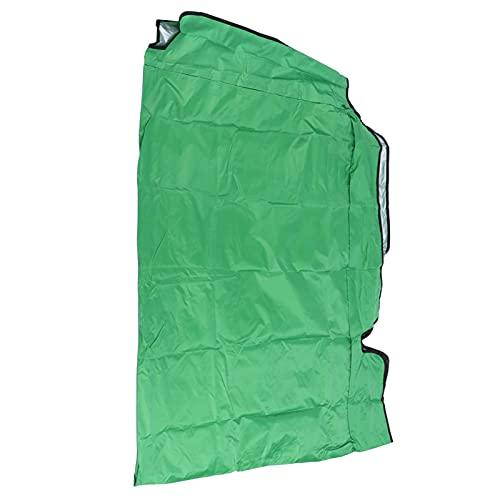 Hoseten Cubierta de toldo para Columpios, Parasol Resistente a la Intemperie Cubierta de Lluvia Superior para Columpios Protección Solar para Patios y Jardines(Green, Three Seats 195 * 125 * 15cm)