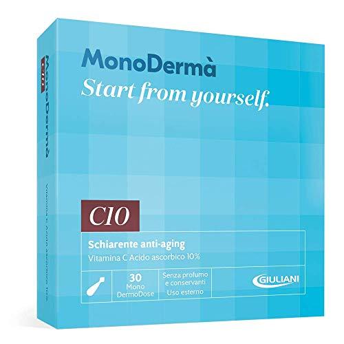MonoDermà C10 Schiarente Anti-Aging 30 Mono DermoDose Di Vitamina C Acido Ascorbico 10 Per Cento