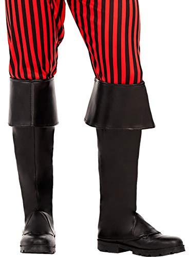 Funidelia | Cubrebotas Negro para Hombre y Mujer Corsario, Bucanero - Negro, Accesorio para Disfraz
