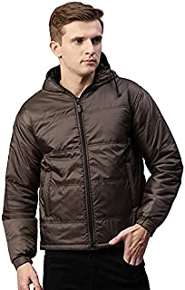Unsully Men's Solid Jacket Light Weight, Winter Jackets for Men