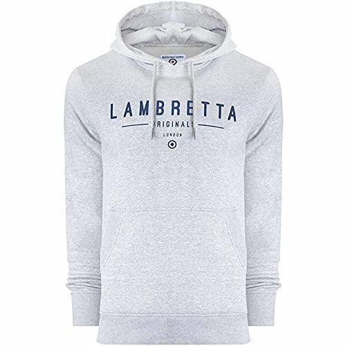 Lambretta Sudadera con capucha clásica con logotipo grande para hombre, gris, XXL