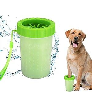 Limpiador portátil de patas de perro, cepillo de limpieza para mascotas, cepillo de limpieza para patas de perro, cepillo de limpieza para limpiar patas de perro / gato, copa para pies