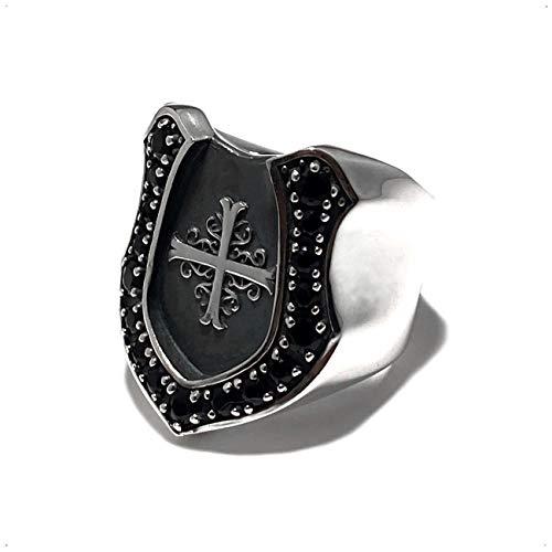 ホースシュー リング メンズ シルバー 925 オニキス 馬蹄 指輪 (オニキス, 19)