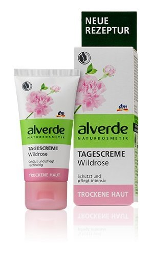 Alverde Wild-Rose Smoothing Hydrating Day Cream (Restores Radiance) - Vegan/No Animal Testing - 50ml by Alverde Natural Cosmetic