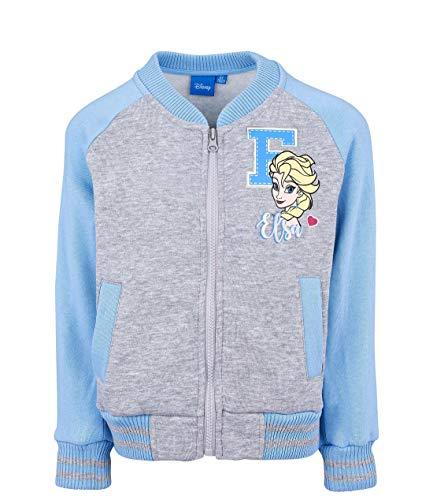 Disney Die Eiskönigin, College Jacke, Grau (92/2 Jahre)
