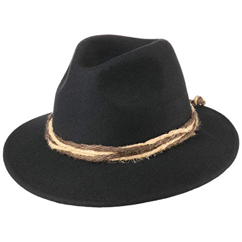Chapeau Tyrolien chapeau en laine chapeau pour homme (M/56-57 - noir)