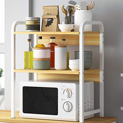 LYMUP Estante de la Cocina Horno Rack de Almacenamiento en Rack/Suelo/sobremesa Horno Shelf (Color : Beige)