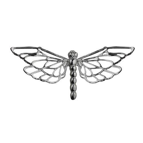 Plata fina–925/1000–26x 55mm broche libélula