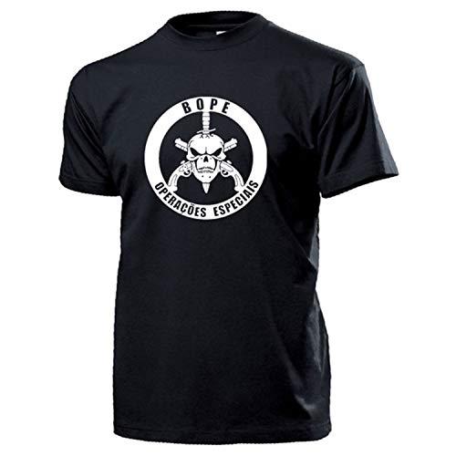 BOPE Batalhão de Operações Policiais Especiais Brasilien - T Shirt #14489, Farbe:Schwarz, Größe:XL