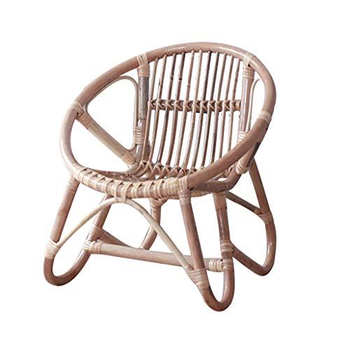 HEWOVEN Kinderstuhl Rückenlehne Stuhl Rattan Weben Babyschale Braun