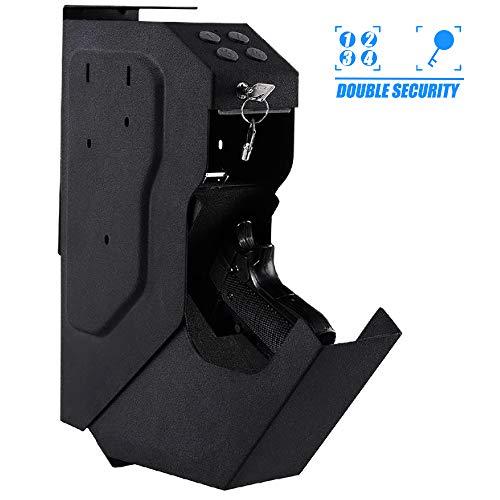 INTERGREAT Mounted Gun Vault Pistol Safe Quick Access Handgun Safe for Car...