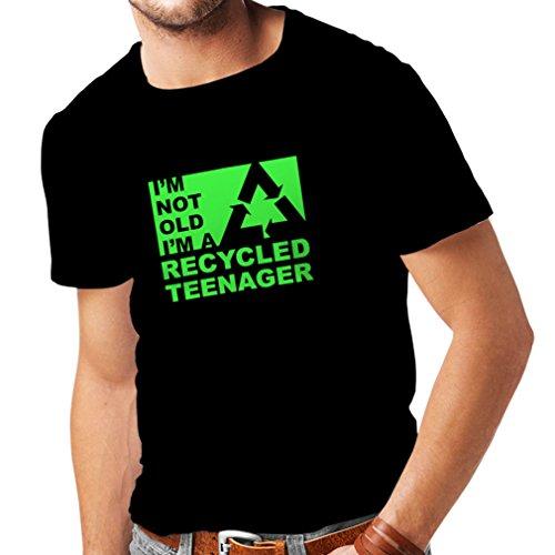 lepni.me Camisetas Hombre No Soy Viejo Soy un Adolescente Reciclado (XXX-Large Negro