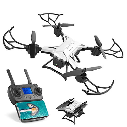 XIAOKEKE Drone WiFi FPV 4K HD Camera, Best Drone for Beginners with Altitude Hold, Voice Control, G-Sensor, Trajectory Flight, 3D Flips, Headless Mode, One Key Operation, Gesture Take A Picture,White