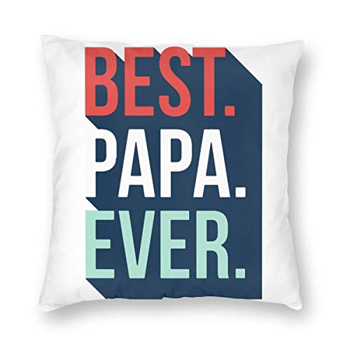 NOT Best Papa Ever Logo Throw Pillow Case Decorative Pillow Case Home Decor Invisible Zippered Industrial Style Pillowcase
