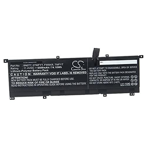 vhbw Batería Recargable Compatible con DELL XPS 15-9575-D2801TS, 15-9575-D2805TS, 15 9575 i5-8305G...