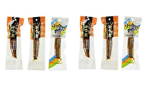 [竹内商店] 鰹節 ソーダがつお 3本入り 生節 味付きかつお生節 40g×2