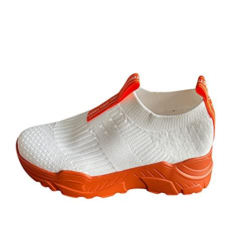 URIBAKY - Zapatillas de ocio para mujer, transpirables y transpirables al aire libre, zapatillas de running en carretera, running, fitness, transpirables, Naranja (naranja), 42 EU