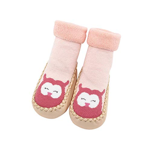 DEBAIJIA Zapatos de Bebé para 6-36 Meses Unisex Niños Niñas Primeros Pasos Pantuflas Infantiles Moda Casual Antideslizante Suave Suela sin Cordones Zapatos de Casa Zapatillas de algodón