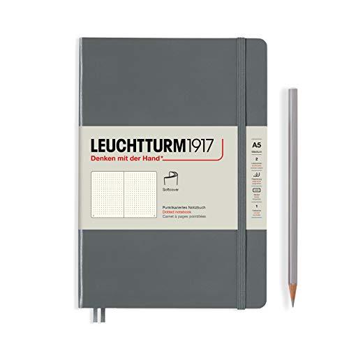 Leuchtturm1917 362851 - Cuaderno (tamaño mediano), color gris