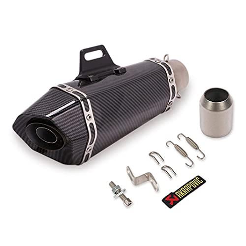 Silenciador universal de 51mm para motocicleta Tubo de escape trasero modificado Silenciador de acero inoxidable Eliminador de ruido de Scooter ATV Street Dirt Bike DB Killer para ZX6R ZX10R Z900 (B)