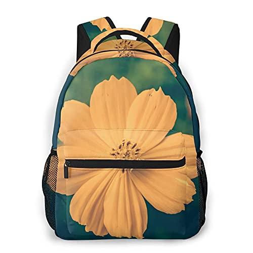 AOOEDM Mochila para hombres y mujeres, hermosas flores abstractas retro casual Daypacks bolsa de viaje