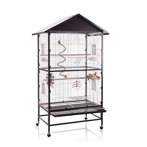 Montana Cages ® | Voliere, Zimmervoliere, Käfig Villa CASA 90 - Choco/Vanilla