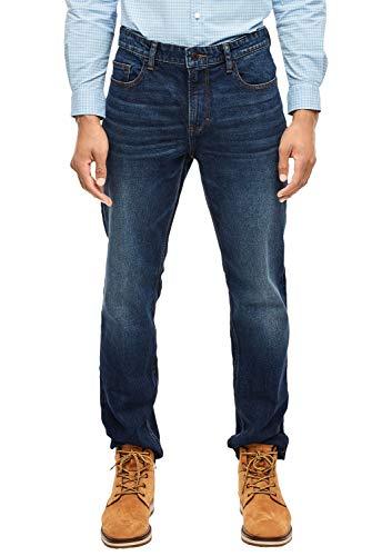 s.Oliver Herren 13.910.71.5857 Straight Jeans, Blau (Blue Denim Stretch 56Z4), W32 (Herstellergröße:32/36)