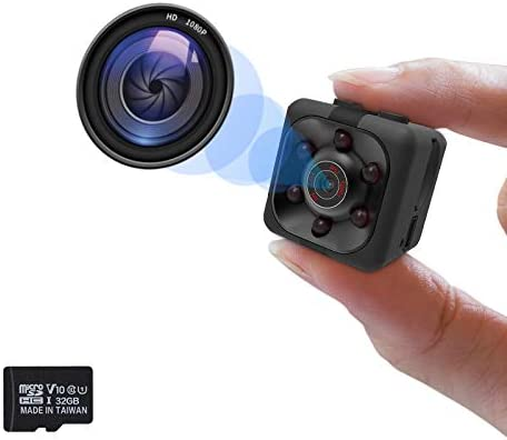 Hidden Camera 1080P Mini Spy Camera Nanny Cam Full HD with Night Vision Motion Activation for product image