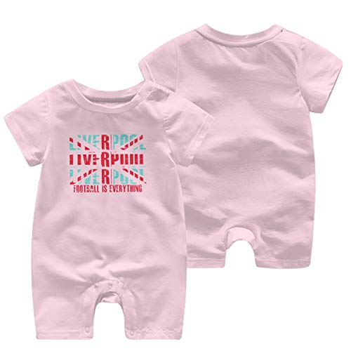 Happiness Station Football is Everything - Liverpool Baby Playsuit Outfits Infant Boys Girls Rompers 0-24 Months Baby Jumpsuit Clothes Kids Playsuits Toddlers Short Sleeve Outfits