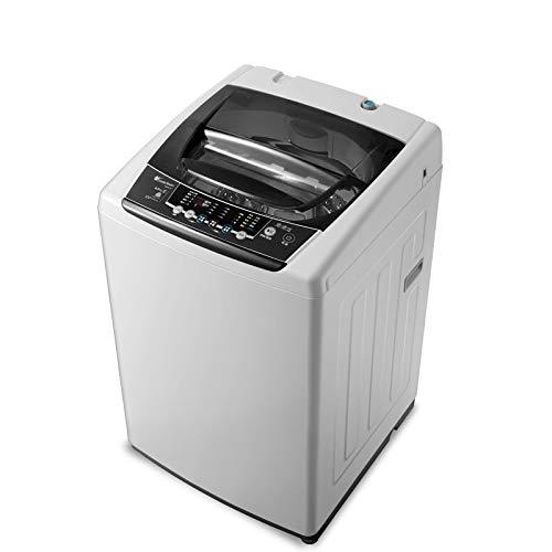 QHGao Draagbare mini-automatische wasmachine, 8 kg kg inverter huishouden, mini-automatische wasmachine met droge dehydratatie, geschikt voor thuis, camping, college-kamer, RV