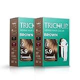 TrichupHenna Haarfarbe - Braun (2er Pack)