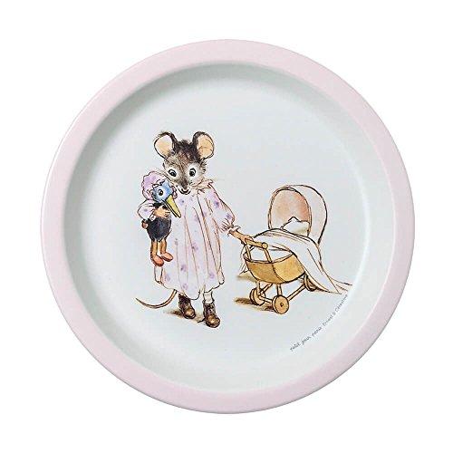 Petit Jour Paris Mimmi and Brumm Assiette en mélamine rose 18 cm – Assiette pour enfant Assiette en plastique mélaminé Assiette pour bébé Multicolore vaisselle pour enfant sans BPA