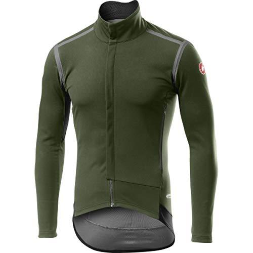 CASTELLI Perfetto Ros - Chaqueta Deportiva para Hombre, Color Verde Militar, Talla S