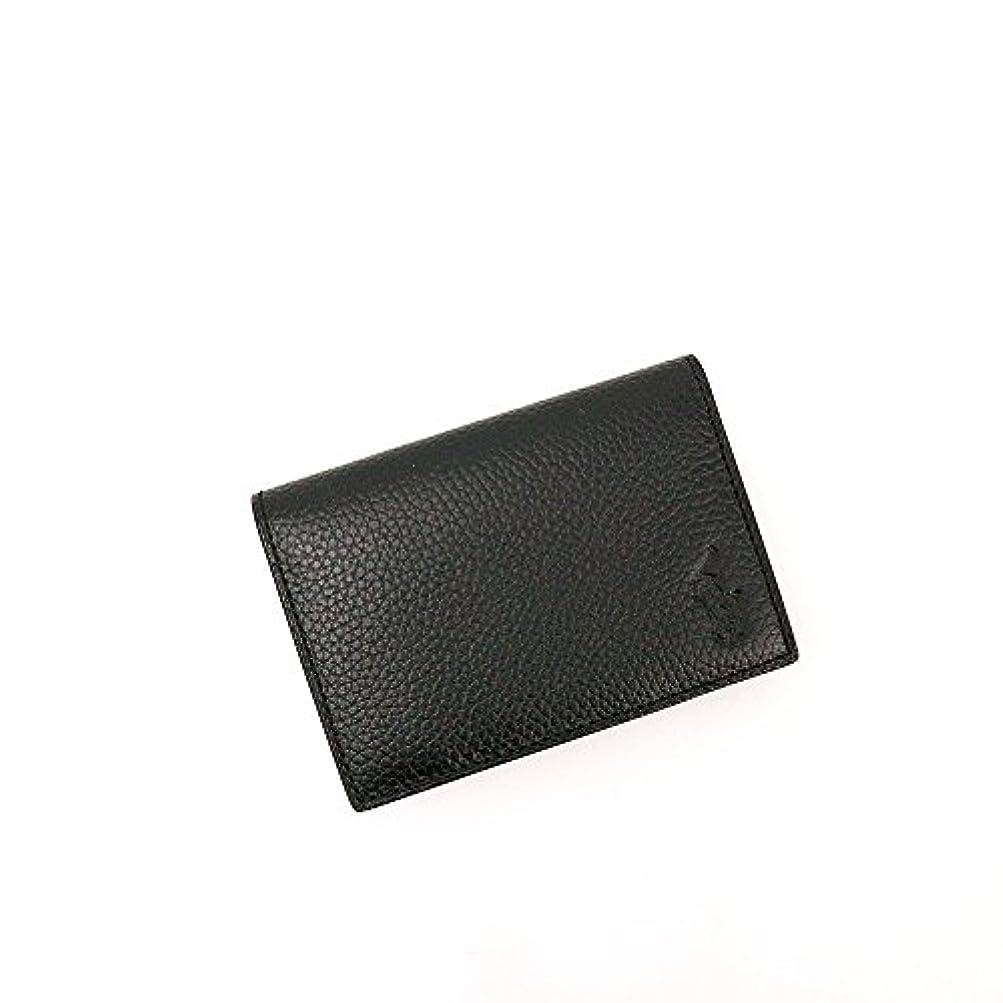 プロポーショナル韓国システムポロ?ラルフローレン シュリンクレザー カードパスケース/ブラック[P-623SH]